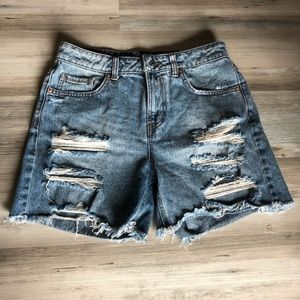 Wild Fable Distressed High Rise Jean Shorts